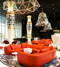 Lobby of Kameha Grand hotel by Marcel Wanders, Bonn, Germany