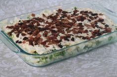 layer salad, kitchen