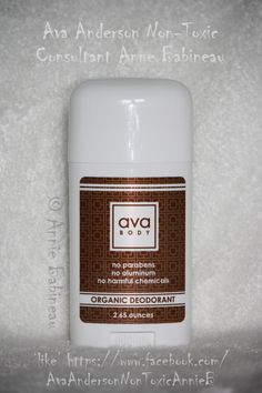 "... ""Ava, I am so grateful I learned at an Ava event that my Dove deodorant contained BHT, Polyethylene, Fragrance, Parfum, and Aluminum! AND the label has a doctor's warning for kidney disease! I was shocked that I had been using this on my underarms for years, where chemicals absorb directly into my bloodstream in seconds. Thank you for Ava Deodorant! I love it, it works, and it is SAFE! My husband and I have total peace of mind using Ava Non-Toxic deodorant! Thank you!"" ~ Candace W."