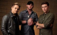 Hunter Hayes, Brantley Gilbert, and Scotty McCreery