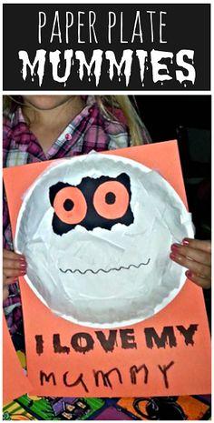 Paper Plate Mummy Craft #Halloween craft for kids to make | CraftyMorning.com  #kidscraft #preschool