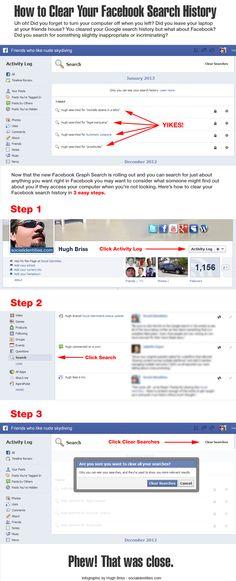 Cómo borrar el historial de búsquedas en FaceBook #infografia #infographic #socialmedia