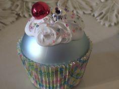idea, cupcak ornament, cupcakes, cupcak craft, christma decor, christma time, christma craft, christma ornament, christmas ornaments