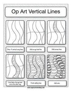 op art vertical lines