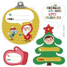 TONS of free #Christmas printables and labels. Click through for more.