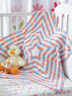 Star Blanket | Yarn | Free Knitting Patterns | Crochet Patterns | Yarnspirations