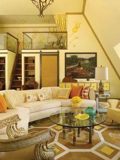 loft area, play spaces, living rooms, living spaces, paint color schemes