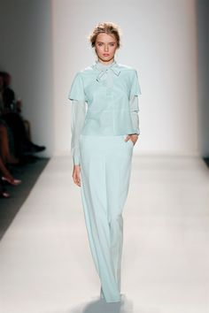 We love the colours at Rachel Zoe Spring 2014!