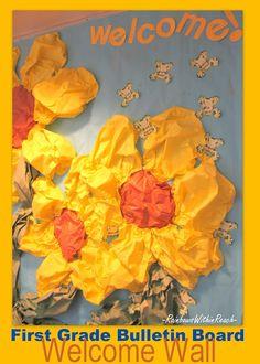 Spring Bulletin Board, Flower bulletin Board, School bulletin board for Spring