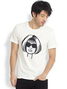 I want this!!!  Artist Michael Roberts illustrated the iconic Anna Wintour for ONETSHIRT, this is spring's must-have tee!