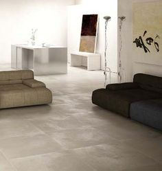 Carrelage aspect b ton cir on pinterest for Carrelage beton cire beige