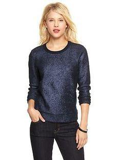 Metallic shrunken sweatshirt | Gap  $49.95 - 11/01/13
