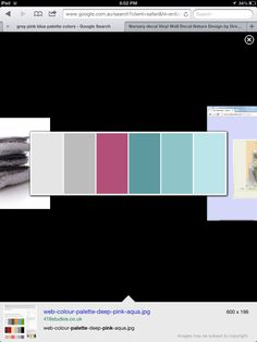 Nice colour palette grey, pink teal