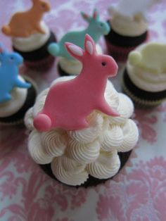 Easter Bunny Cupcake Toppers $28