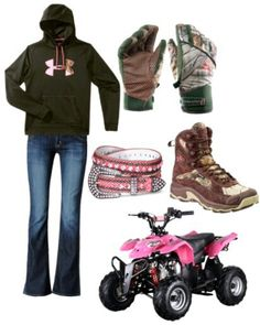 So rocking the pink four wheeler. Although I'd be wearing different boots.