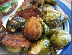 honey balsamic brussel sprouts. can't wait to try these!