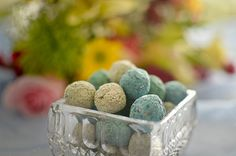 eco friendly rustic green wedding favors seed balls