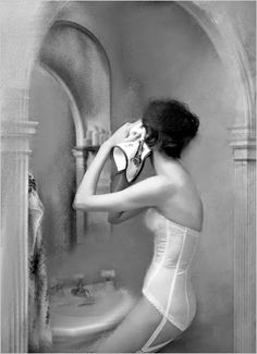 Lillian Bassman - Iconic Photography ~ Frou Frou Fashionista - Luxury Lingerie Blog for Faire Frou Frou in Los Angeles vintage lingerie, lillian bassman, dream bathrooms, corset, lillianbassman, fashion photography, blog, luxury lingerie, photographi