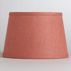 Coral Burlap Accent Lamp Shade | World Market