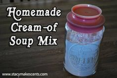 Homemade Cream-Of Soup Mix on http://www.stacymakescents.com