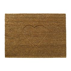 IDGRAN heart door mat IKEA