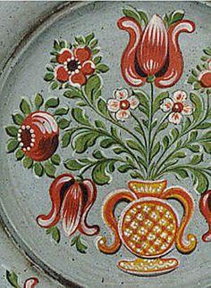 FREE Pattern - Bauernmalerei , Austrian Wooden PLate