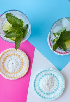 Crochet Coasters on