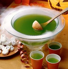 Halloween Drink Ideas party punches, punch bowls, halloween parties, pineappl, ale, punch recipes, lime, drink mixes, witches brew