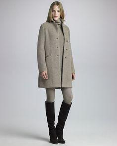 Loro Piana - Women's Loro Piana Mink-Collar Knit Coat