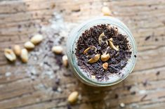 This PB2 Dark Chocolate Banana Smoothie seriously rivals your favorite ice cream, yet is guilt-free, dairy-free and processed sugar-free!