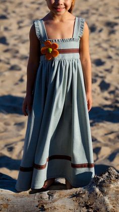 Girls Long Dress by SololaDresses on Etsy, $40.00