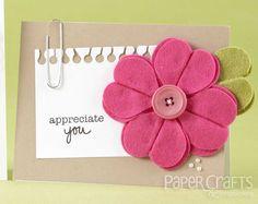 Teri Anderson - handmade flower, felt - Paper Crafts & Scrapbooking