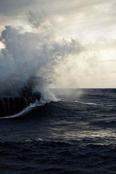 Ocean, mist - zacharysnellenberger