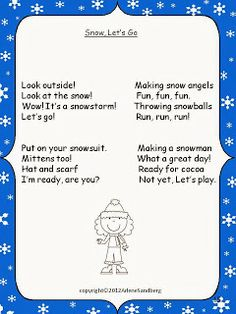 Let it Snow with a Poem about Snow!- pinned by @PediaStaff – Please Visit ht.ly/63sNt for all our pediatric therapy pins