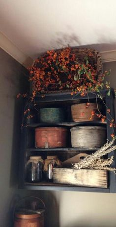 Michelle Snyder Guerrieri photo ~ I would LOVE to do this in my small bathroom. It's just so HARD finding the vintage shaker boxes!