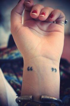 Tattoo: quotation marks