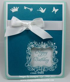 Elementary Elegance by Stampin' Up!  ♥ the white on blue - so style-y