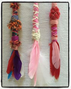 Hand made feather br