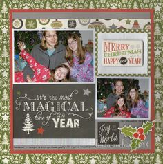 magic time, season, scrapbook christma, christma layout, christma scrapbook, echo park, scrapbook layout, scrap layout, scrapbook galleri