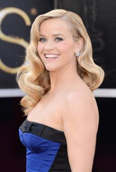 reese witherspoon, rees witherspoon, celebrity hairstyles, wave, oscar hairstyl, 2013 oscar, gown oscar, oscars hairstyles, style fashion
