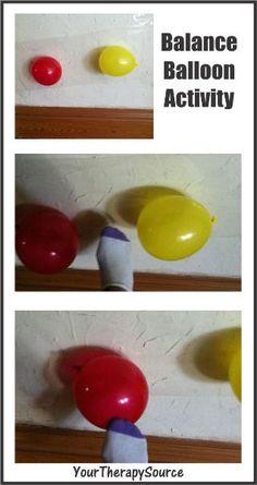 Balloon Balance activity