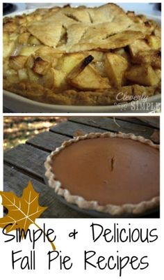 Easy and delicious recipes that will have everyone asking for more!  Nothing says fall like pumpkin pie and apple pie!