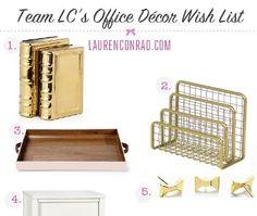 Team LC's Wish List: Office Décor