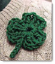 Crocheted shamrock