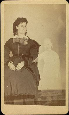 "ca. 1861, ""Mrs. Tinkman"", William Mumler Find out more at: http://www.darkshadowghosttours.com/?p=198"