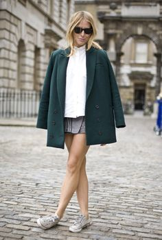 Green Coat, London | Street Fashion | Street Peeper | Global Street Fashion and Street Style