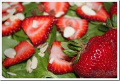 Low Calorie Strawberry Spinach Salad Recipe