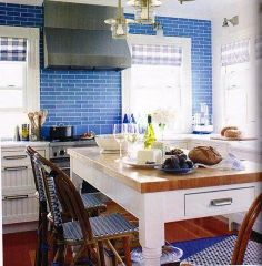 Kitchen Color Inspiration: Cobalt