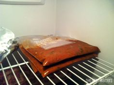 Freeze flat to defrost quickly
