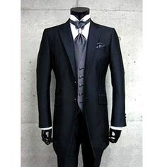 Custom 5 Piece Black Two Button Slim Fit Italian Dress Suit Men Wedding SKU-123077